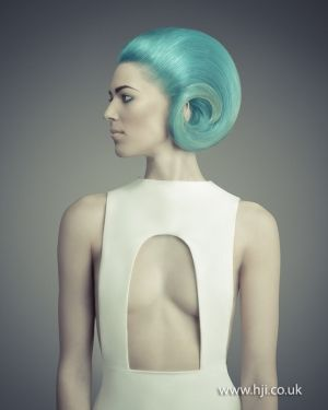 Nathan Jasztal, 2012, alternative girl, hairstyle, blue hair, future girl, futuristic fashion, future fashion, futuristic look, modern by FuturisticNews.com