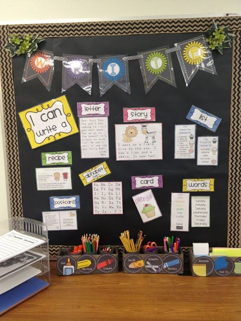 Classroom Organization in Pictures from Mrs. Tunstall!  LOVE her new classroom look, especially the writing center and math work stations!