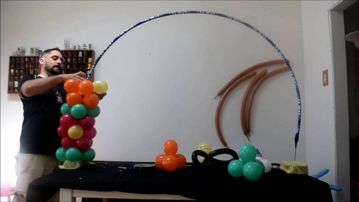 12 best diy balloon arches images on pinterest balloon for Balloon arch no helium