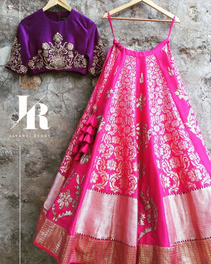 Crushing on this Pink and Purple Lehenga Set from the Benares Capsule! JayantiReddyLabel JayantiReddy Benares 22 December 2016