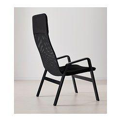 НОЛЬБИН Кресло c высокой спинкой - черный/черный - IKEA 3299 р.