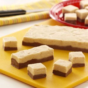 Ribbon Fantasy Fudge Recipe- Recipes  I developed this recipe especially for my husband, who likes anything that has chocolate and peanut butter together!