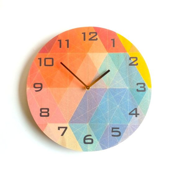 Objectify Nazca With Black Numerals Plywood Wall Clock - Large