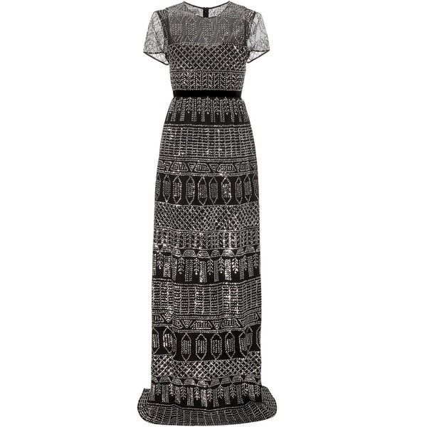 Burberry Sequinned Cotton Gown ❤ liked on Polyvore (see more sequin evening dresses)
