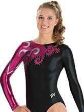 Elegant Swirl Long Sleeve Leotard from GK Gymnastics