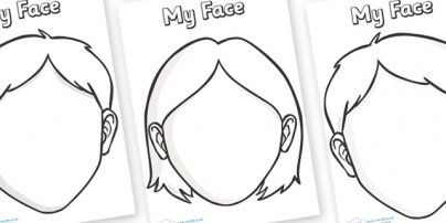 Printable blank faces