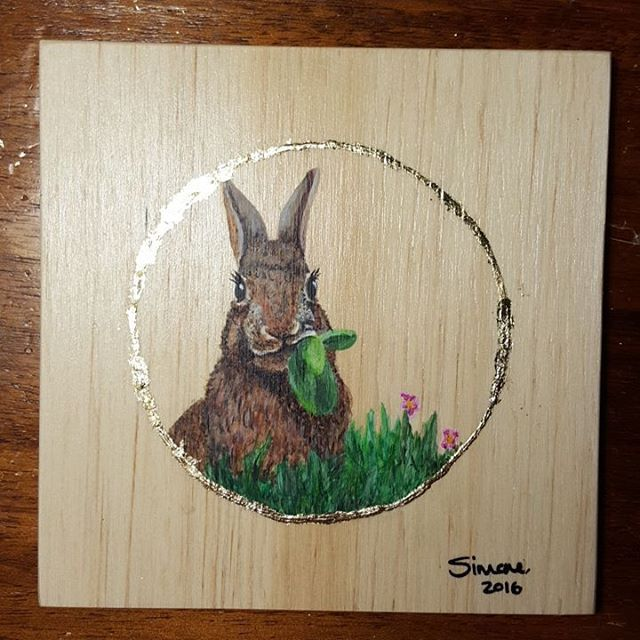 Just completed the Bunny. 😀  #art #inspiration #plywood #drawing #painting #wip #wingsandwildthings #bunny #rabbit