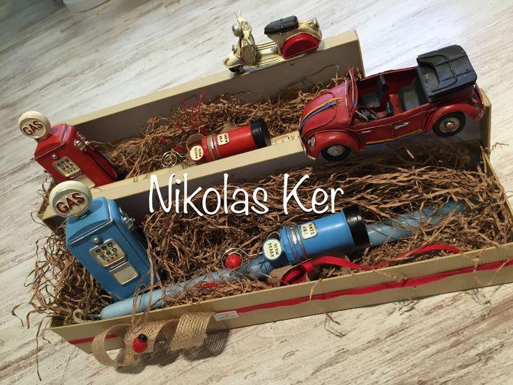 Πασχαλινές λαμπάδες με GAZ & μεταλλικά vintage αντικείμενα!!! (Πάσχα, λαμπάδες).