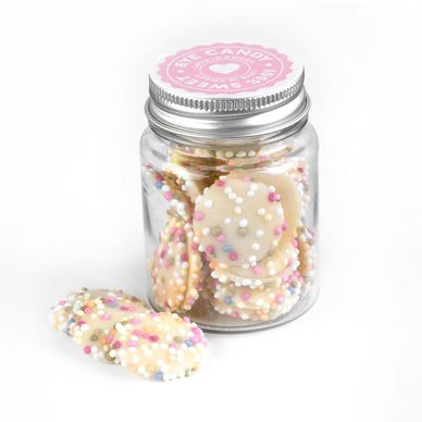 Wedding Favours cute jars of sweets in pretty jars with ribbons :)