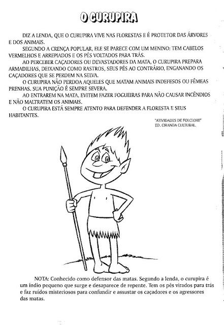 Rosangela.Aprendizagem: Folclore/Lendas e Atividades