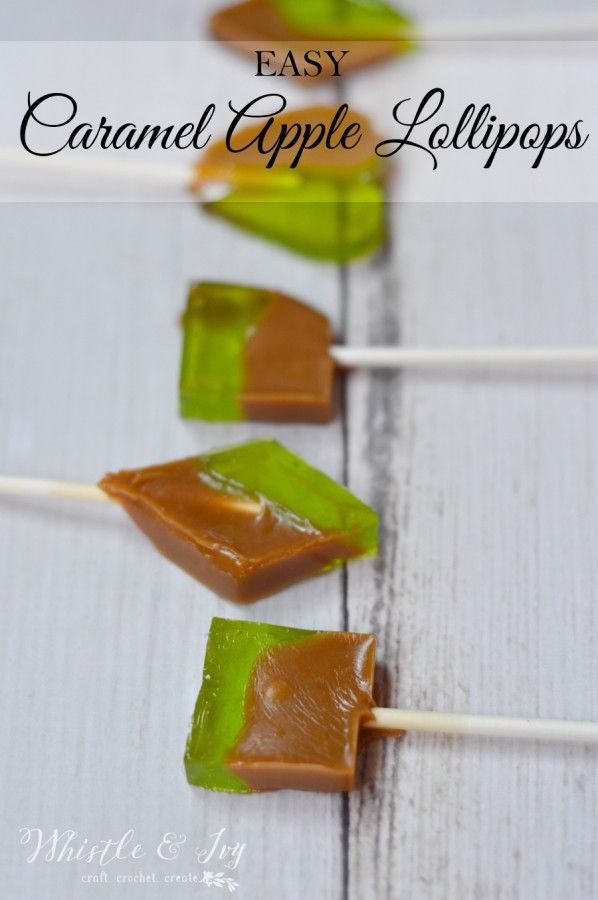 Easy Caramel Apple Lollipops - A fun, delicious and easy treat to make with your family!
