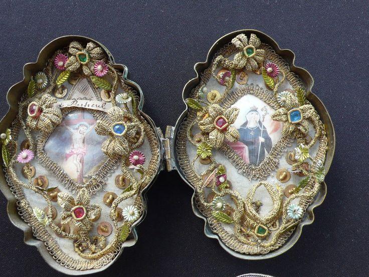 Originale Klosterarbeit 18./19. Jahrhundert,Walburga.   eBay