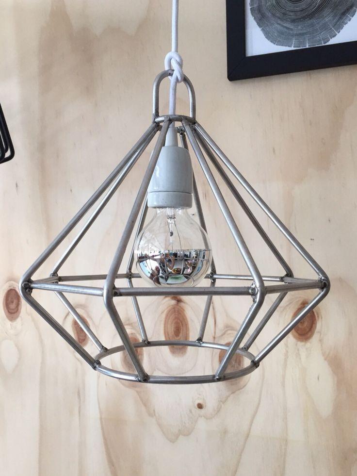 Diamond lamp made in steel designed by Hoüt diseno