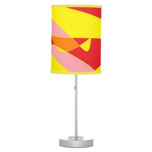 Yellow, Orange, Red and Pink Joy Lamp design
