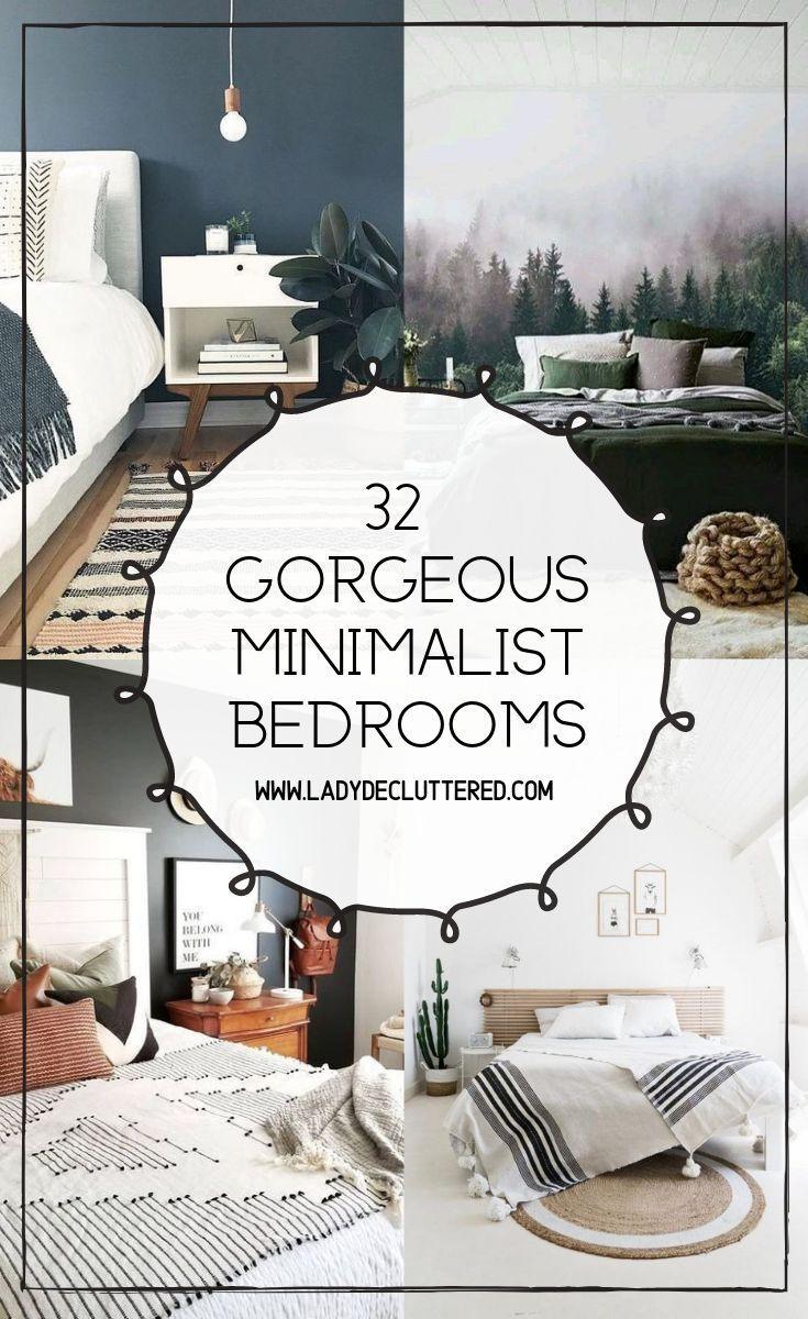 32 Minimalist Bedroom Ideas In 2020 Minimalist Bedroom Mismatched Furniture Minimalist Bedroom Decor