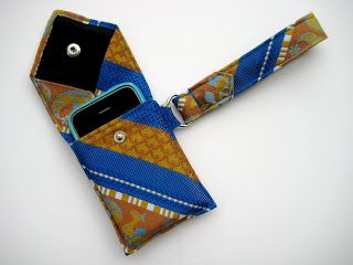 This site has the tutorial on how to make a wristlet from an old necktie!