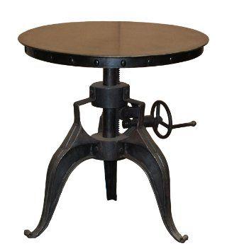 Amazon.com   Winston 22 Inch Crank Table In Black