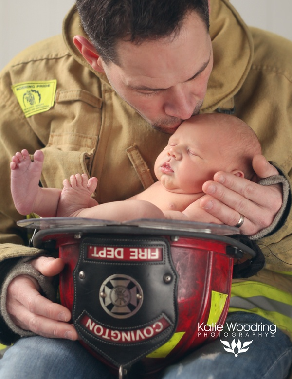 Firefighter newborn. <3 Firefighter baby  Katie Woodring Photography