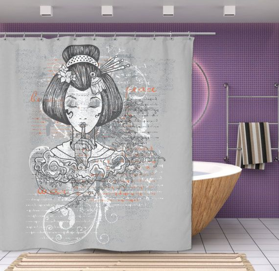 Japanese Shower Curtain