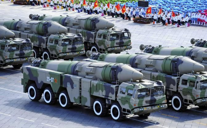 Военные транспортные средства, перевозящие ядерные ракеты, Китай