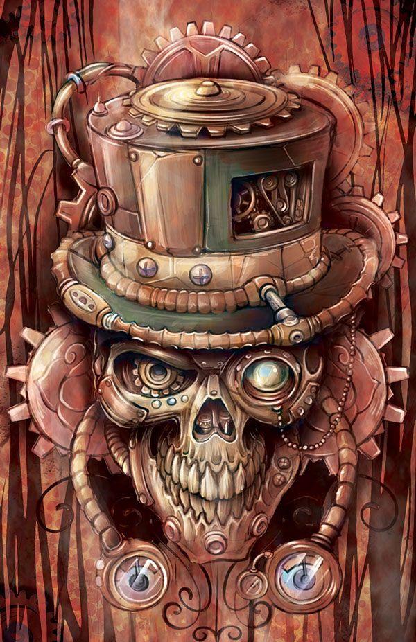 SteamSkull by Pete Arriola, via Behance