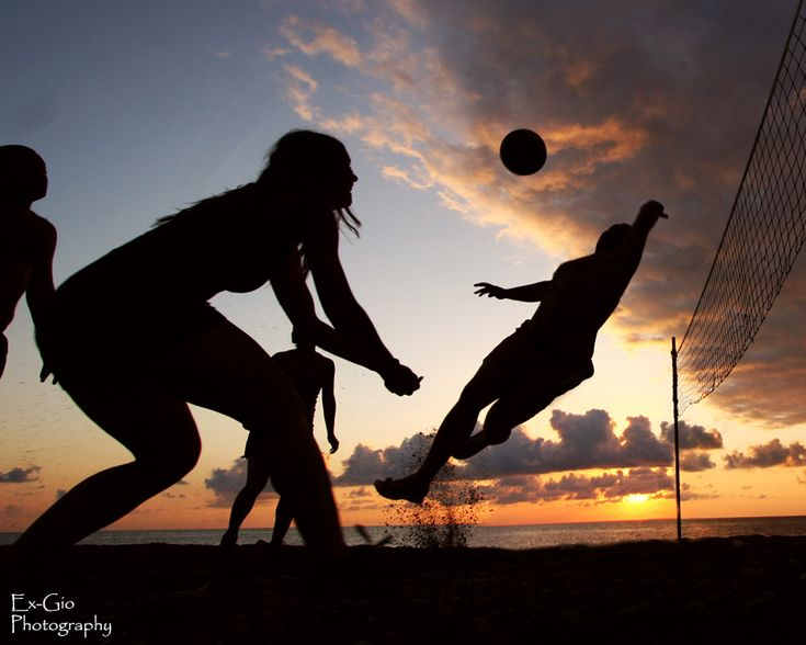 Beach Volley Jump at sunset! Beach #Volley Sunset