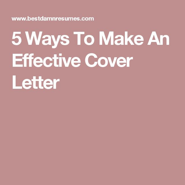 The 25+ best Effective cover letter ideas on Pinterest Cover - how to make cover letter of resume
