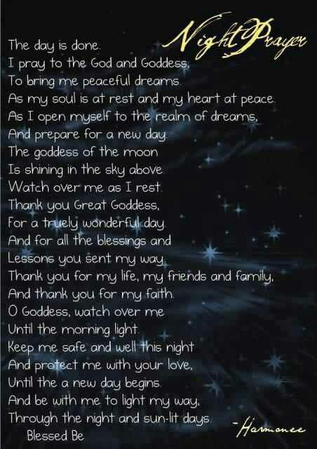 Pagan Night Prayer