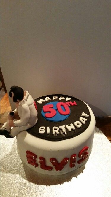 Elvis 50th birthday cake