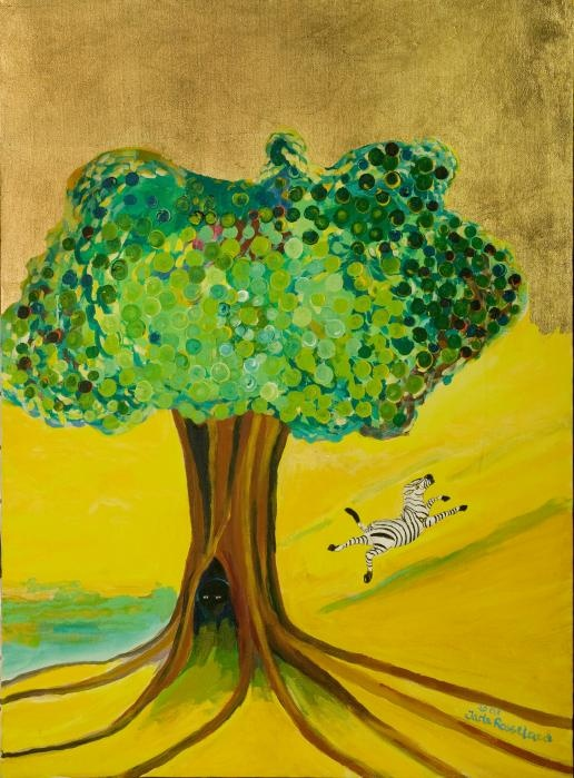 """""""Happiness"""" - Painting by Jarle Rosseland"""