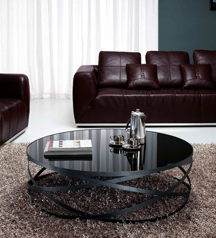 black leather living room furniture sets%0A Black Glass coffee table VG