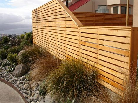 wooden fence. height change