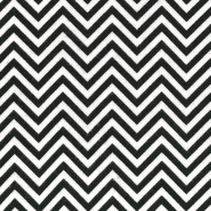 Black & White Skinny Chevron FLANNEL From Robert Kaufman by StitchStashDiva on Etsy (null)