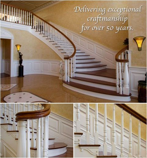 Beautiful Custom Stairs, Custom Stair Builder, Stair Rails, Millwork | Long Island |  Hudson