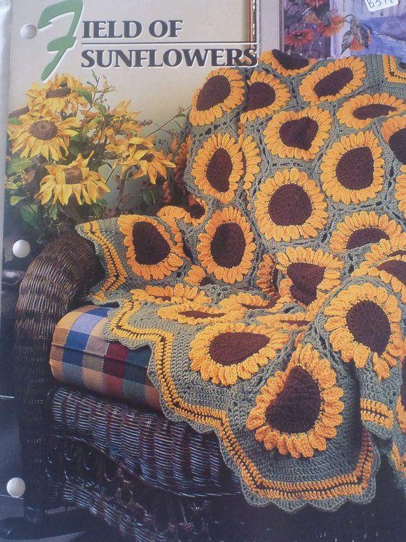Field Of Sunflowers Afghan Annie S Crochet Amp Afghan Club