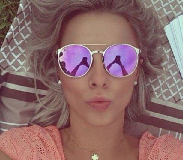 cd12c06014 sunglasses mirrored sunglasses mirror round gold swimwear purple sunnies