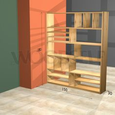 Build this totally modular room divider bookshelf to what ever dimensions suite your space.