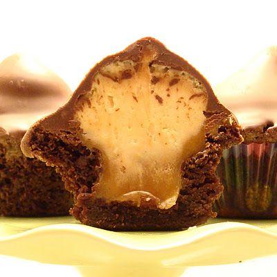 Peanut Butter Caramel Poppers: Butter Choc, Caramel Poppers, Families Functional, Caramel Bites, Brownies Bites, Butter Caramel, Butter Cream, Peanut Butter, Caramel Brownies