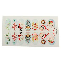 Nail Art Natale Babbo Stickers Unghie Tips Christmas Adesivi YB-Q161 - Intl