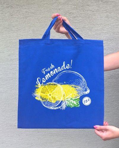 LEMONADE (torba bawełniana z którkim uchem, kolor niebieski) - tylko 22,50 PLN