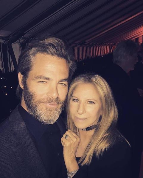 Barbra and Chris Pine