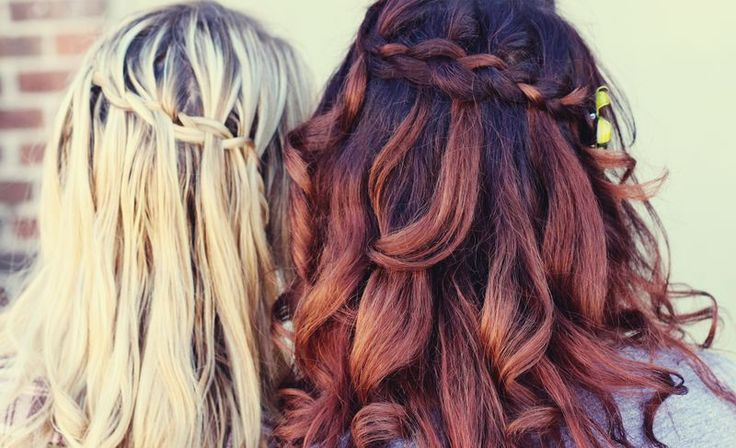 My hair needs to grow asap to do this.French Braids, Hair Colors, Braids Tutorials, Red Hair, Waterfal Braids, Long Hair, Cascading Braids, Messy Braids, Waterfall Braids