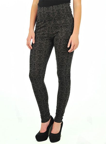 Pumpkin Patch - leggings - printed leggings - W3MT60005 - black - small to large
