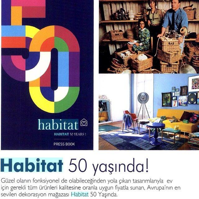 Habitat 50 yaşında! Homeart'ın kaleminden Habitat'ın tasarımdaki 50 yılı, Home art dergisinde... #habitat #habitat50yaşında #aşkınevhali #birthday #anniversary #terenceconran