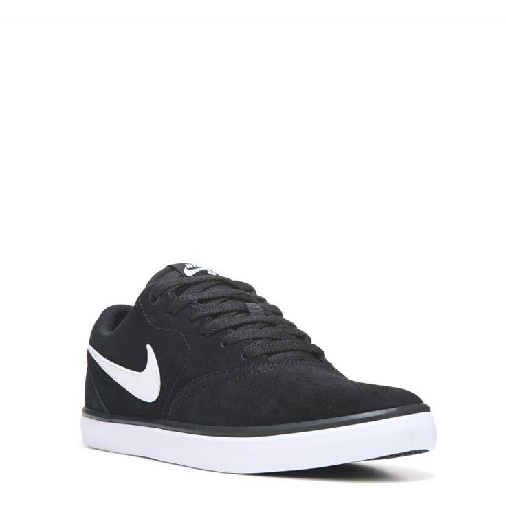 Nike Men's Nike SB Check Solar Suede Skate Shoes (Black/White) - 10.5 M
