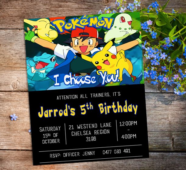 Best 25 Pokemon party invitations ideas – Packs of Party Invitations