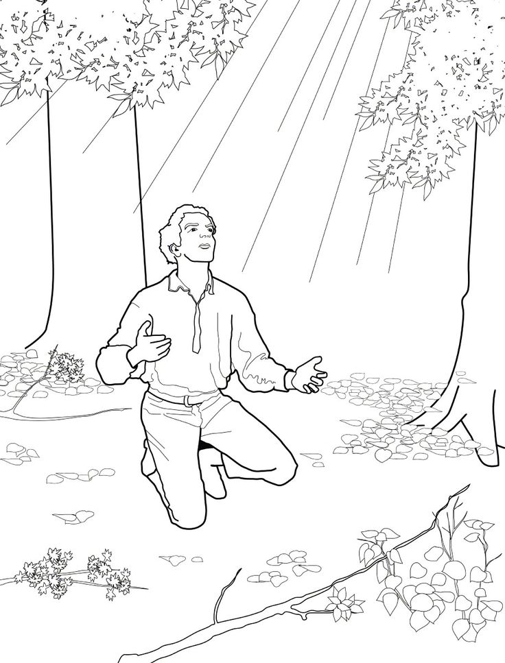 Joseph Smith And The First Vision Primary Coloring Page Lds Primary Joseph Smith Coloring Pictures