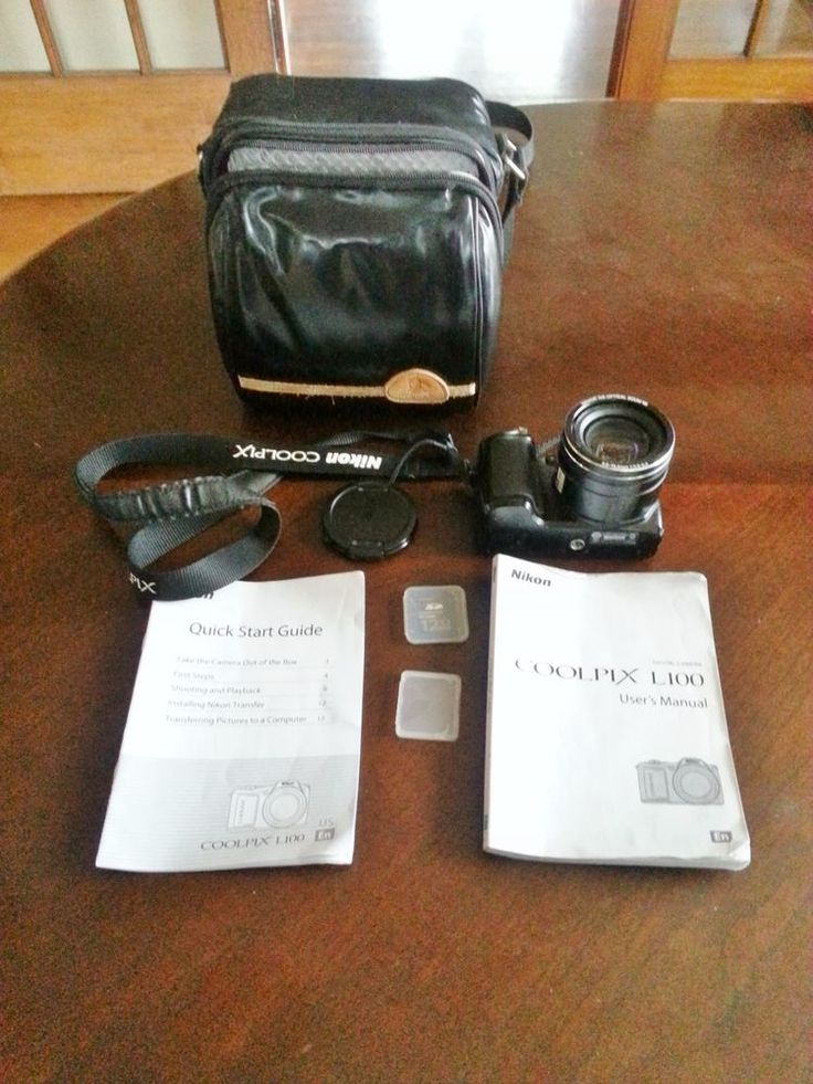 NIKON COOLPIX L100 10.0 MP DIGITAL CAMERA - BLACK - WITH MOHAWK CARRYING CASE