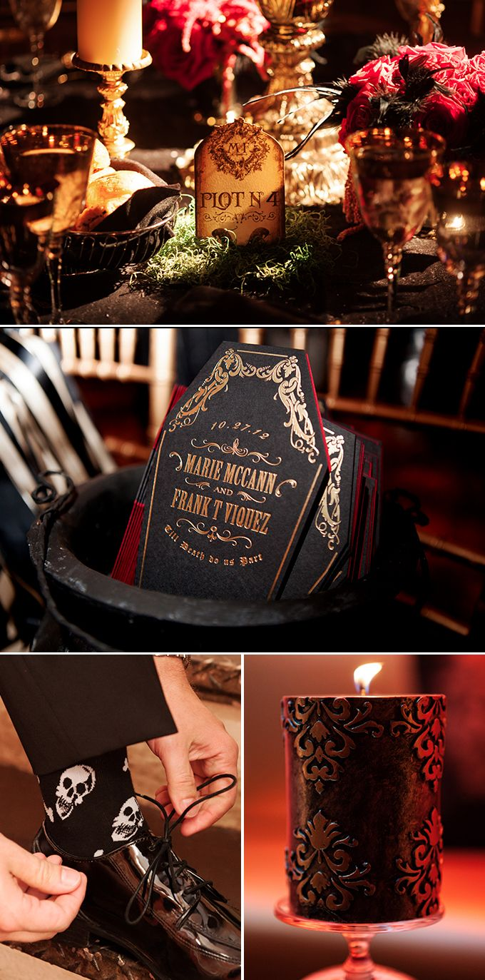 Inspirations: Halloween Entertaining Tips. Halloween Wedding DecorationsHalloween  WeddingsGothic ...