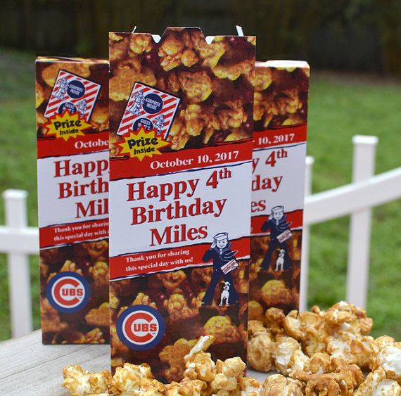25 Personalized Cracker Jack Boxes for Baseball by 6elmdesigns
